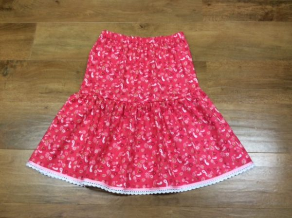 How to sew a tiered skirt for girls